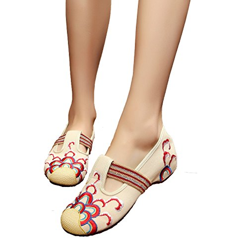 Women's increased heavy-bottomed canvas shoes (white? - 7