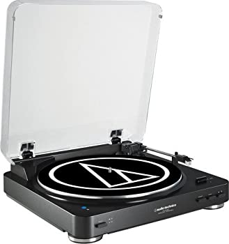 Audio Technica AT-LP60BK-BT Fully Automatic Bluetooth Wireless Belt-Drive Stereo Turntable