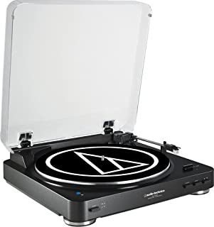 Audio-Technica AT-LP60BK-BT Fully Automatic Bluetooth Wireless Belt-Drive Stereo Turntable, Black (B01BE5CT8U) | Amazon price tracker / tracking, Amazon price history charts, Amazon price watches, Amazon price drop alerts