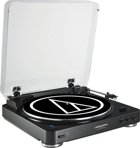 (Audio Technica AT-LP60BK-BT Fully Automatic Bluetooth Wireless Belt-Drive Stereo Turntable, Black)