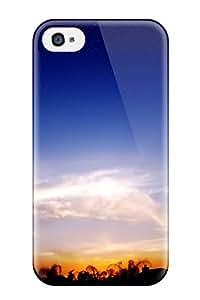 Premium Tpu Wispy Sunset Cover Skin For Iphone 4/4s
