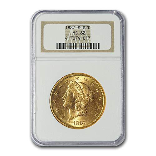 1887 S $20 Liberty Gold Double Eagle MS-62 NGC G$20 MS-62 NGC