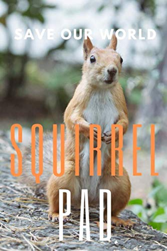 Squirrel Pad: 150 pages, Half Wide Ruled / Half Blank, hardy durable Matte cover.