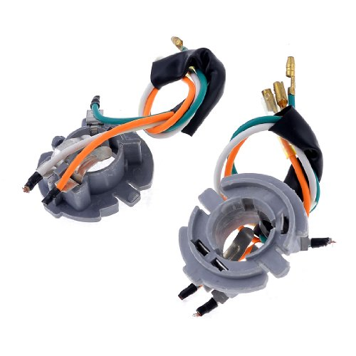 2PCS 3 Wired Motorcycle Light Lamp Socket Gray for Suzuki GN125