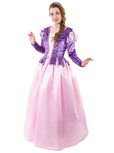 Little Adventures Deluxe Women's Rapunzel Dress-up Costume - Size Adult 6-8 -