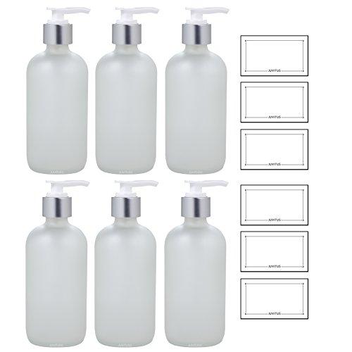 White 8 Oz Pump Bottle - 3