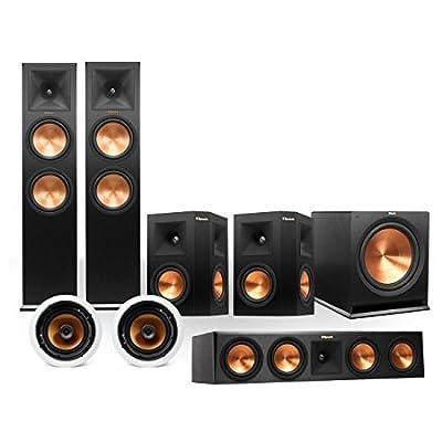 Klipsch RP-280 5.1.4 In-Ceiling Dolby Atmos System (Black) by Klipsch