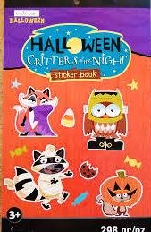 Raccoon Critters of the Night Owl MSPCI Halloween Sticker Book Fox Squirrel