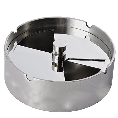 Jump-Tiger-High-Grade-Stainless-Steel-Tabletop-Detachable-Rotating-Lid-Cigarette-Ashtray