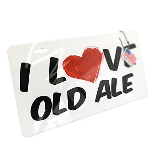 NEONBLOND I Love Old Ale Beer Aluminum License -