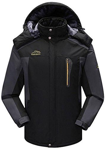 Deporte Chaqueta Hombre Al Sawadikaa Esquí Aire de Negro Chaqueta Alpinismo de Impermeable Ropa de Capa Libre Nieve Lana Excursionismo 1w5TqrdTH