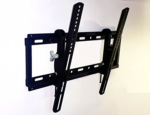 AXXIS LARGE TV MOUNT - TILTING Low Profile TV Wall Mount Bracket for 32-80 inch TVs - 15 Degrees of Down Tilt for LED, LCD, OLED and Plasma Flat Screen TVs with VESA patterns to 600 x 400