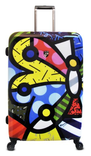 Price comparison product image Heys USA Luggage Britto Butterfly 30 Inch Hardside Spinner, Butterfly, 30 Inch