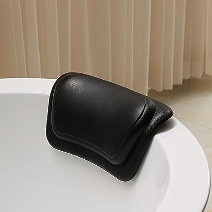 LIUSHU Almohadas de Baño de Poliuretano Multiusos Almohadas Baño Almohadas con Taza de Aspiración de Baño
