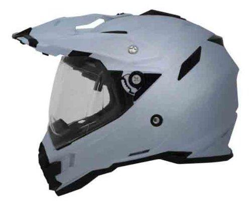 AFX FX-41DS Solid Helmet , Gender: Mens/Unisex, Helmet Type: Offroad Helmets, Helmet Category: Offroad, Distinct Name: Silver, Primary Color: Silver, Size: Md 0110-3756