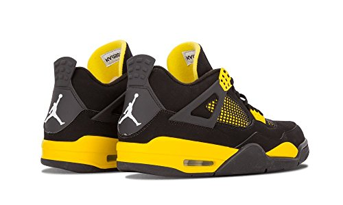 Nike Air Jordan 4 Retro 'Thunder' Black/White-Tour Yellow Trainer