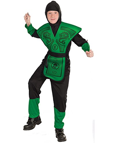 Forum Novelties Green Ninja Costume, Child Large - Green Ninja Boys Costumes
