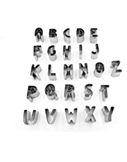 طقم قطاعات كوكيز بتصميم الحروف الانجليزية - ستانلس ستيل