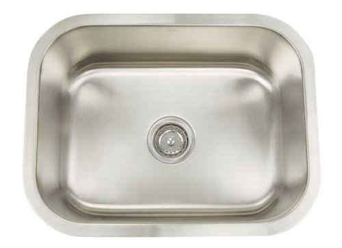 Artisan AR 2318 D9-D Premium Collection 16-Gauge 23-Inch Undermount Single Basin Stainless Steel Utility - Artisan Sink Undermount