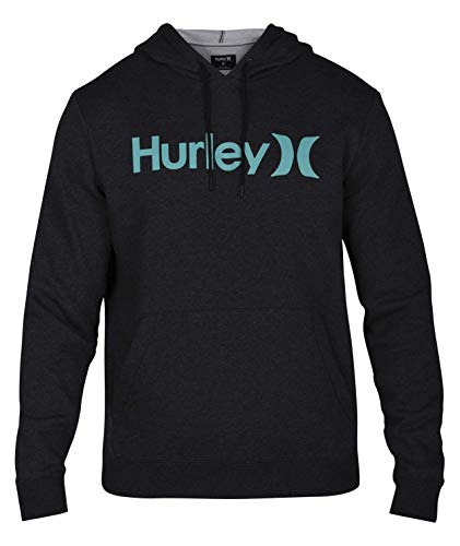 Hurley Men's Surf Check One & Only Pullover Hoodie, Black Heather/Tropical Twist M ()