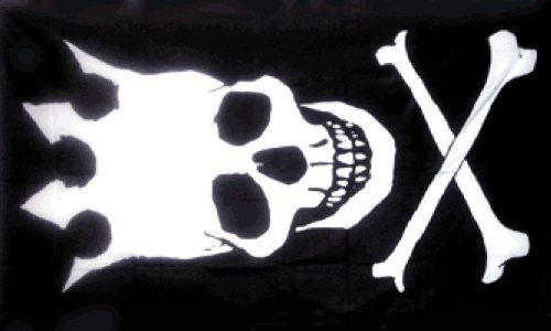 Skull With Crown Pirate Flag 3x5ft (3 Halloween Symbols)
