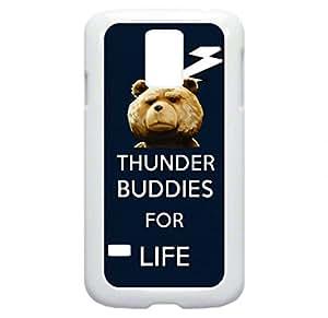 Thunder Buddies for Life - Samsung Galaxy S5 I9600 - Hard white plastic snap on case.