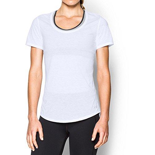 Under Armour Women's Streaker Short Sleeve T-Shirt, White/White, Large
