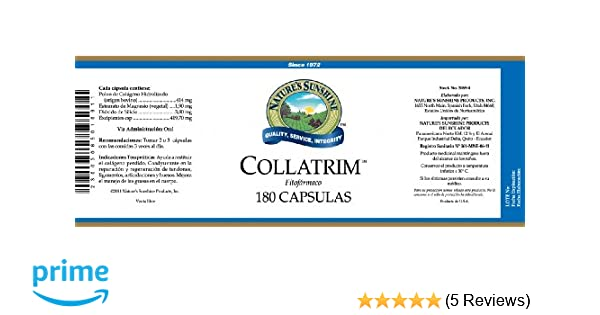 Amazon.com: Natures Sunshine Collatrim, 180 caps, Kosher: Health & Personal Care