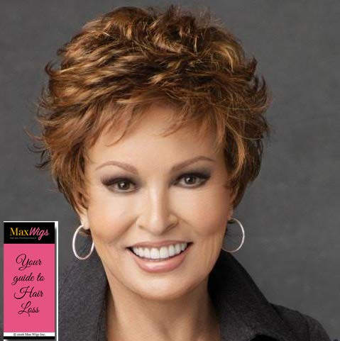 Autograph Wig Color RL5/27 GINGER BROWN - Raquel Welch Wigs Short Razor Cut Heat Friendly Synthetic Freeform Lace Front Monofilament Top Average Cap Bundle MaxWigs Hairloss Booklet