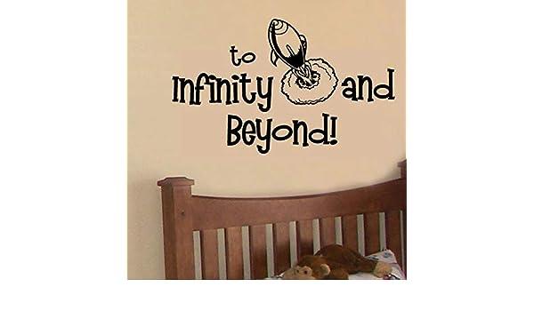 Rocket Space Etiqueta de la pared Al infinito y más allá Tatuajes ...