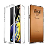 Samsung Galaxy Note 9 Slim Full Body Coverage Built-in Screen Protector Hard Clear Back Case Cover N960 2018 (Clear)