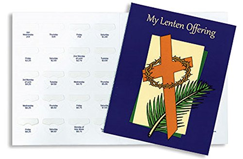 Lenten Folders Coin - My Lenten Offering Coin Easter Tithing Folders with Dated Slots, Pack of 50