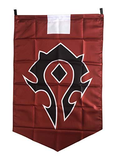 LinkStart Horde Alliance Badge Banner Flag Orc Emblem Poster (Red)]()
