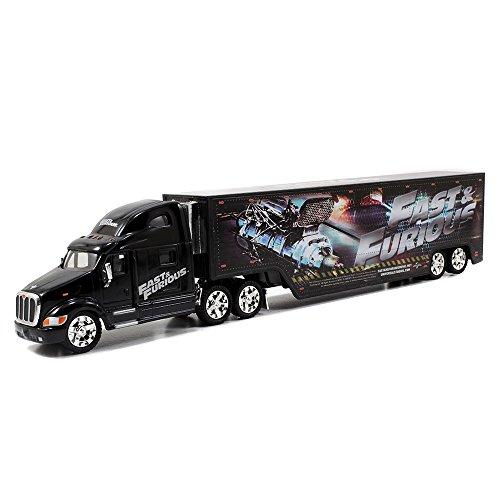 Jada Toys Fast & Furious 1:64 Diecast Hauler  Peterbilt 387 Hauler  G, Black -