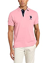 U.S. Polo Assn. Men's Short Sleeve Solid Slim Fit Pique Shirt