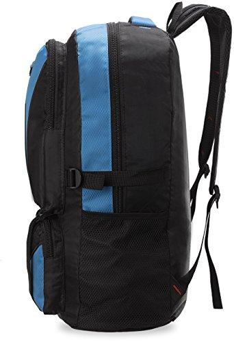 großer Herren - Rucksack Sporttasche Freizeittasche Ausflug - Rucksack Reisetasche schwarz - blau