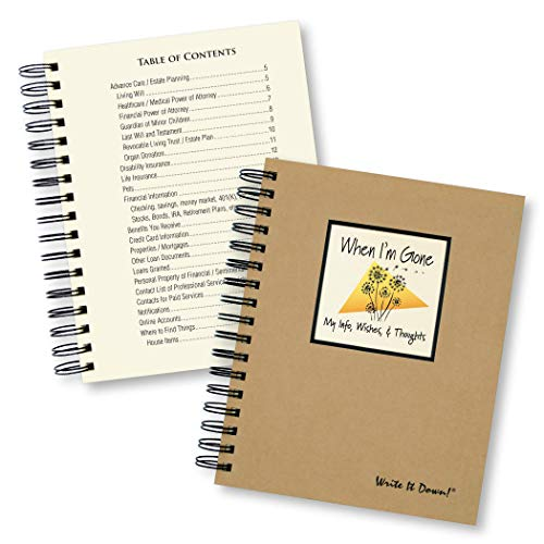 When I'm Gone - My Info, Wishes, Thoughts (A Must Have for You and Everyone You Know!) (Life As Party My Planner)