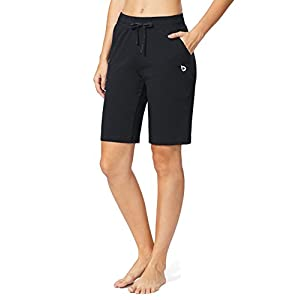 Baleaf Women's Active Yoga Lounge Bermuda Shorts with Pockets