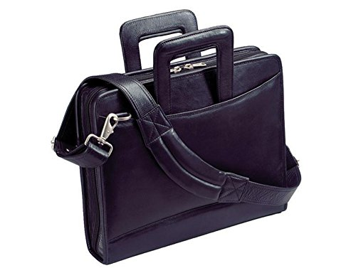 (Winn International Harness Cowhide Napa Leather Portfolio 3-Ring Binder in Black)