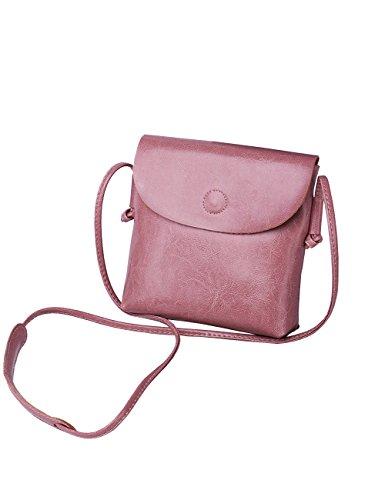 rosa tracolla Borsa a in CUKKE donna pelle 6921 a da vera verde tracolla wPRqU1a