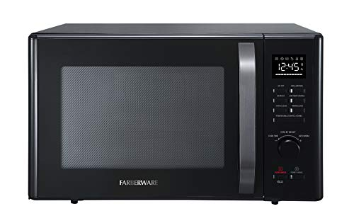 Farberware FMO10AHDBKC 1.0 Cu. Ft. 1000-Watt Microwave Oven With With Healthy Air Fry & Grill|Convection Function, Black Stainless Steel