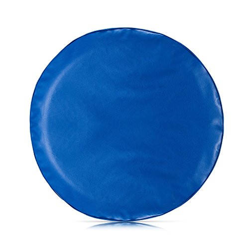 Aautohome Blue Spare Tire Cover Universal Overdrive Fit For Jeep, Trailer, RV, SUV, Truck and Many Vehicle, Wheel diameter 26.75inch - 29.75inch, Tire Protector (215 75 R14 Trailer Tires)
