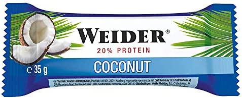 Weider - BodyShaper Protein Plus Energy - Riegel 24er Box Coconut
