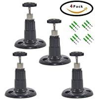 FIZZE Security Wall Mount for Arlo Camera,4 Pack Indoor and Outdoor Mount for Netgear Arlo Camera and Arlo Pro,CCTV,DVR,4 Pack,Black Color
