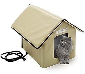 Amazon.com : Milliard Heated Cat House, Outdoor Pet House