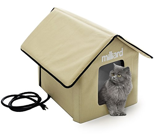 Milliard Heated Cat House, Outdoor Pet House Small Dog or Kitty