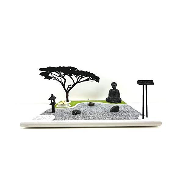 Bonseki® Giardino Zen da tavolo 30 x 30 in legno, proietta l'ombra del bonsai sulla parete, personalizzabile. 3 spesavip
