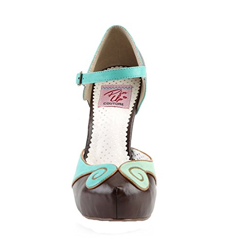 Pin brown Faux Teal Bettie Couture 17 Up Leather XxqrpX