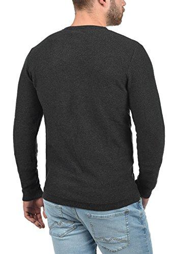 Grey Tricot Melange Homme En Nuno over Pull Coton Rond Encolure 100 Dark Pull Produkt Maille YOnqTTp