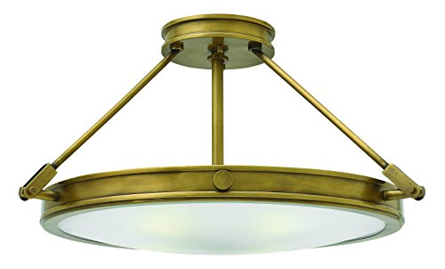 Hinkley 3382HB Restoration Four Light Semi-Flush Mount from Collier collection in (Restoration Flushes Collection)